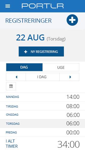 Mobil tidsregistrering